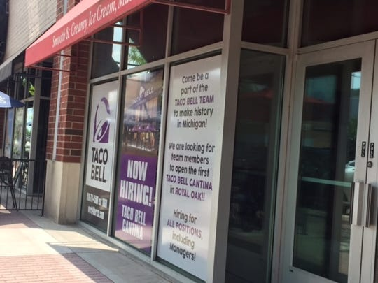 Royal Oak's Taco Bell Cantina pictured on Main Street before it opened in early 2018.