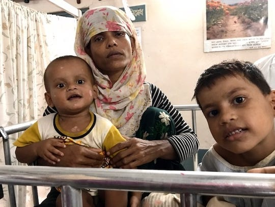 Shannon and Bryan Pierce treated many injured Rohingyas