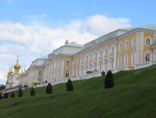 The Peterhof Palace, summer home to Peter the Great