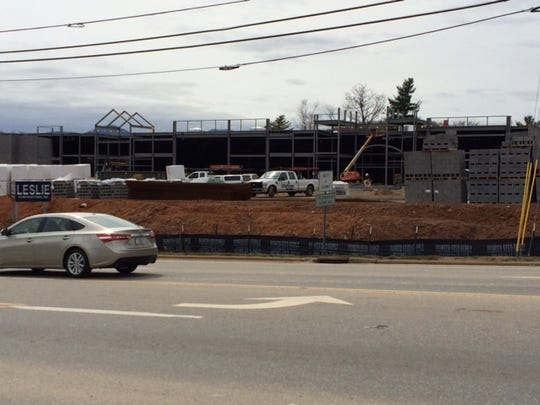 Sidewalks won't be going in by the new Ingles in Enka on Sand Hill Road.