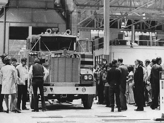 The first truck assembled at the Kenworth in Chillicothe in March 1974.
