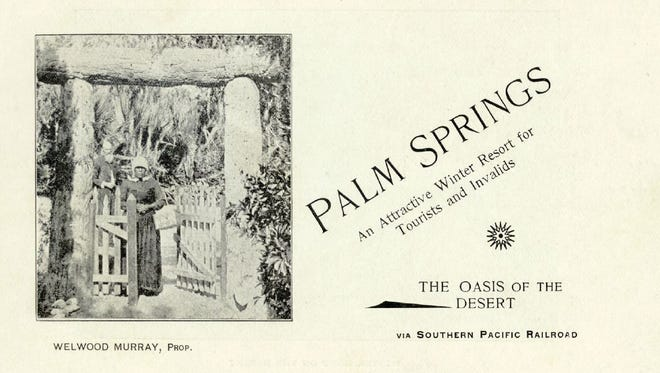 Brochure for the Palm Springs Hotel.