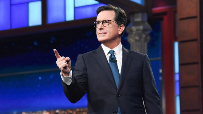 Stephen Colbert during 'The Late Show' on Jan. 30, 2018.