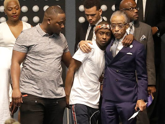 Al Sharpton at Stephon Clark funeral