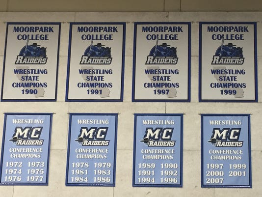 Moorpark College wrestling banners