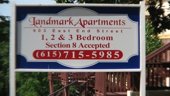 The fully-leased Landmark Apartments complex is at 903 East End St., roughly four blocks from the Courthouse Square in downtown Columbia.