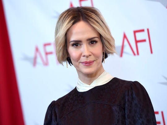 Sarah Paulson arrives at the AFI Awards at the Four Seasons Hotel on Friday, Jan. 6, 2017, in Los Angeles.