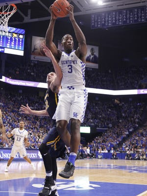 Kentucky's Bam Adebayo gives the Wildcats a physical post presence they didn't have last season.