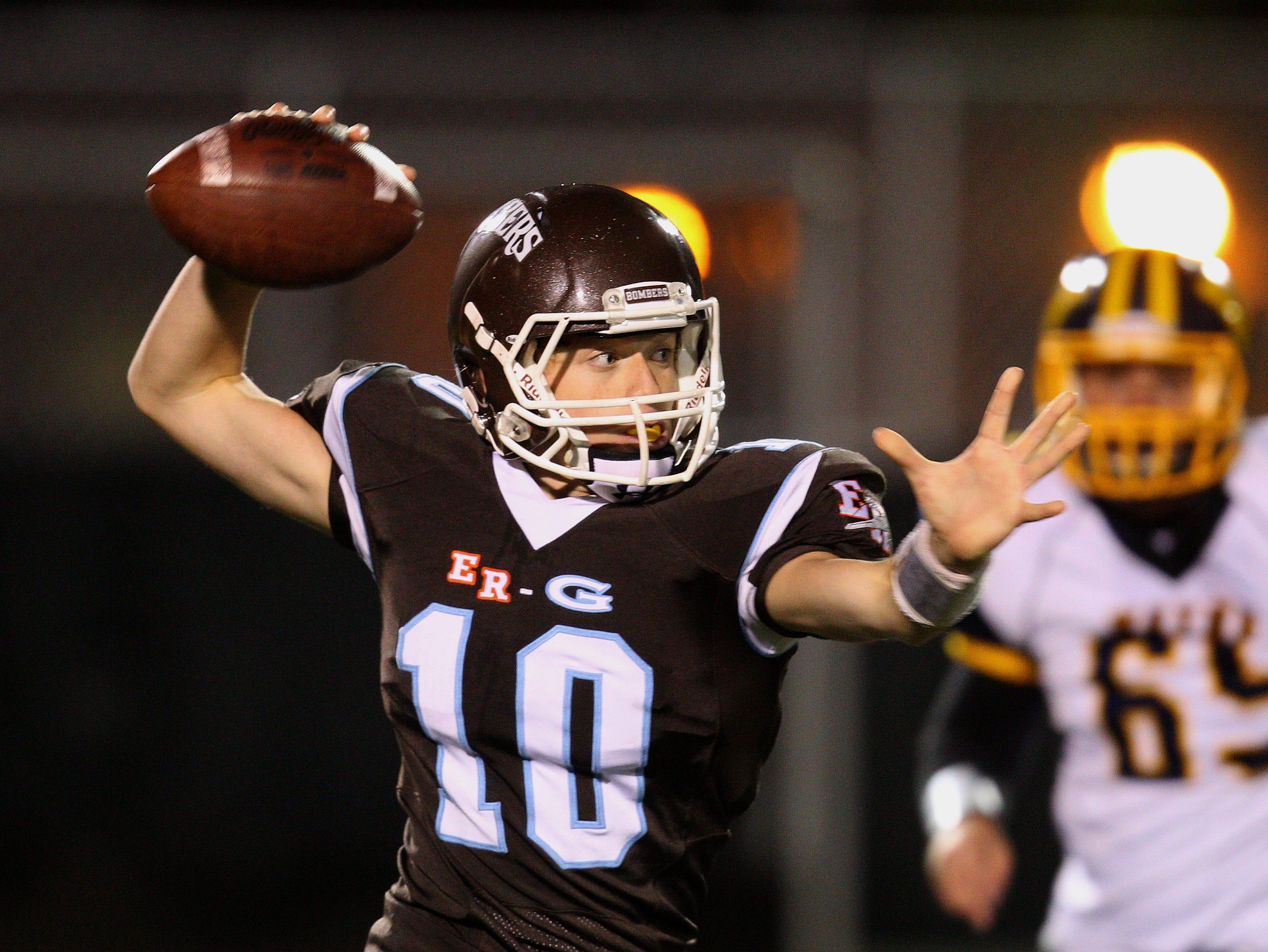 East Rochester/Gananda quarterback Patrick Shanley. 2014 file photo.