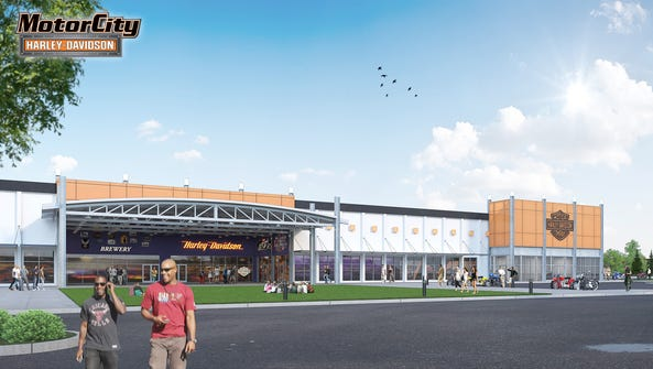 A rendering of future Motor City Harley-Davidson that