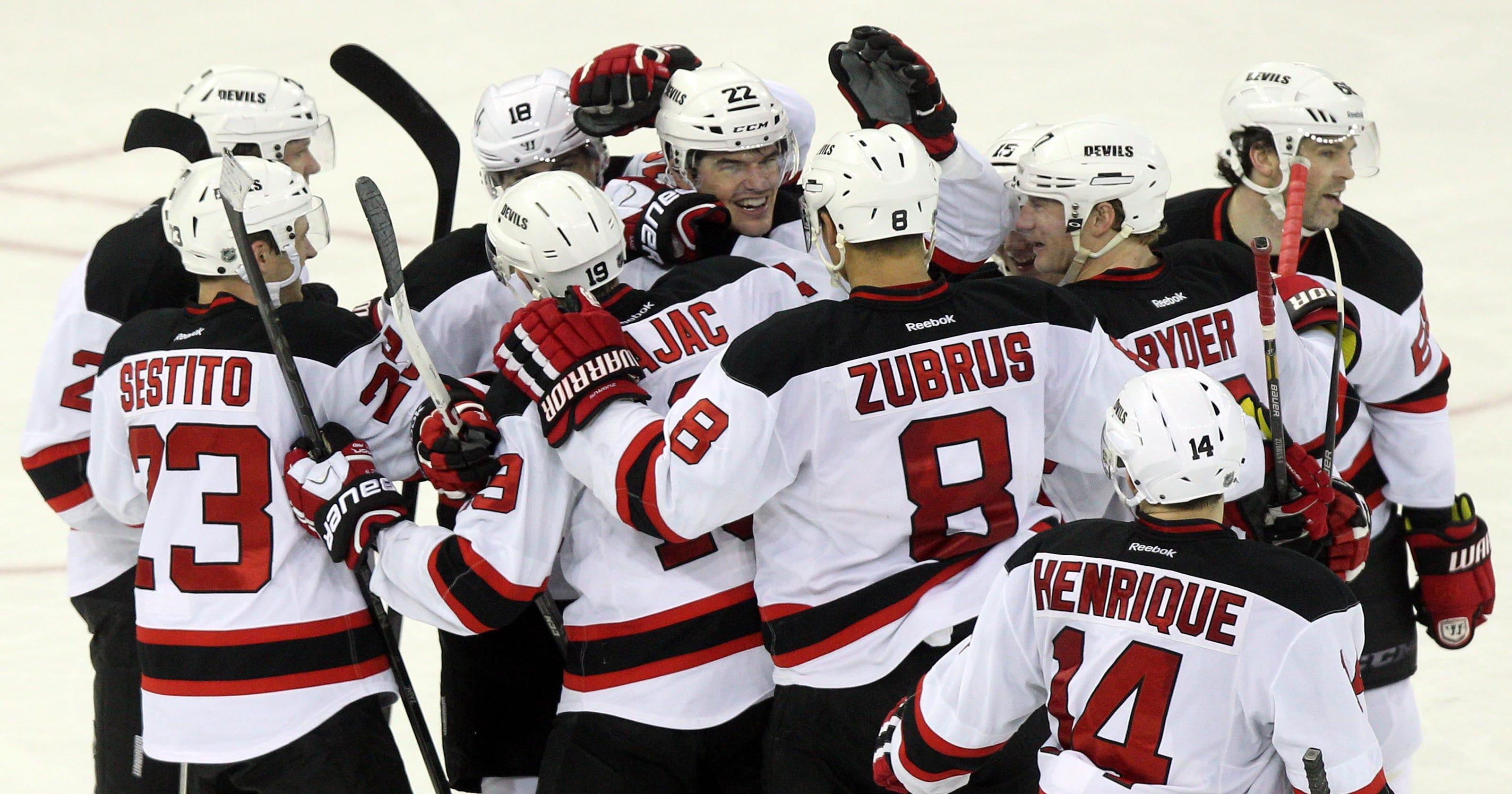 timeless design 952b4 6b547 Eric Gelinas' overtime goal pushes Devils past Rangers