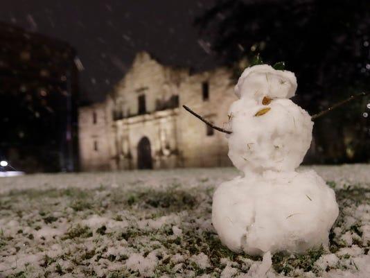 AP TEXAS SNOW A USA TX