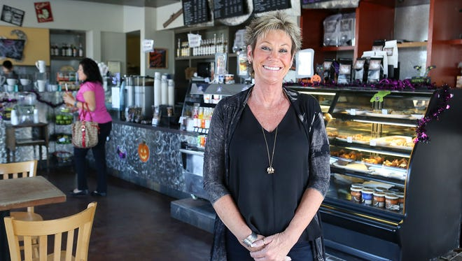 Kerry Anderson of Sip Coffee House and Juice Bar in Indio, Tuesday, October 26, 2015.