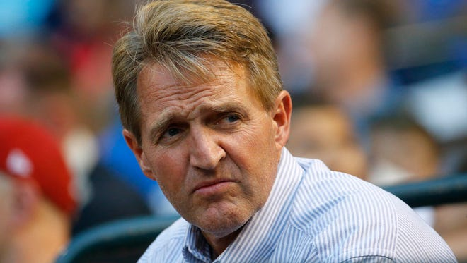 Sen. Jeff Flake, R-Ariz., is critical of President Donald Trump's executive order restricting refugees from certain countries.