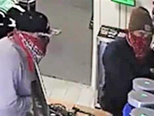 Two men robbed X Nutrition Center on Tuesday at 5200