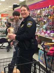 Lt. Elsenpeter and Elijah Sears during Two Rivers Police