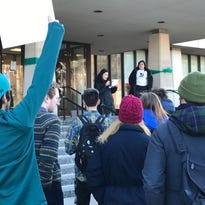 Protesters rally for new governance structure at MSU