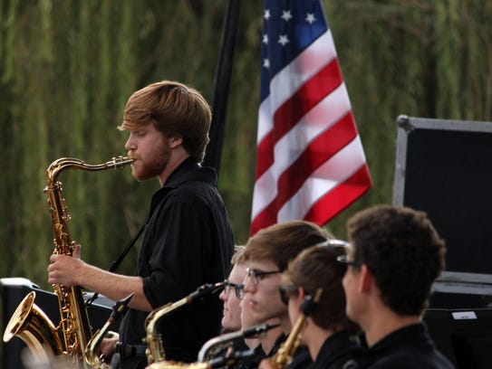 The T.L. Hanna Jazz Band performs at Celebrate Anderson.
