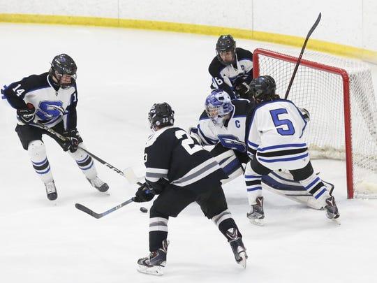 St. Mary's Springs Academy hockey's Connor McLaughlin