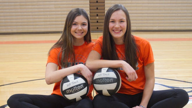Brighton High School's Celia Cullen, left, and Gabi Tschannen are the Co-Volleyball Players of the Year.
