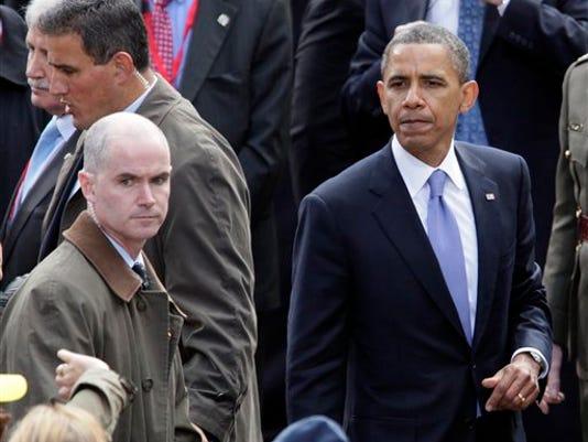 Barack Obama, Mark Connolly, Joseph Clancy, Reggie Love