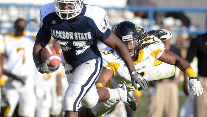 Jackson State running back Rakeem Sims.