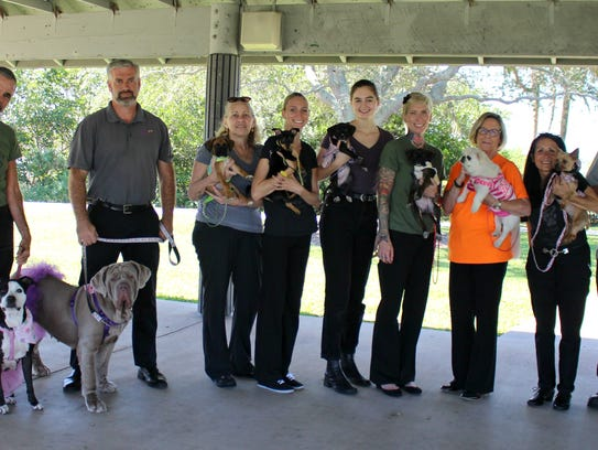 H.A.L.O. staff and volunteers, from left, Kim Dean,