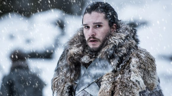 Kit Harington as Jon Snow in a scene from the Season