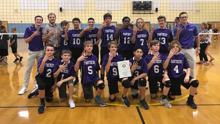The Cypress Lake Middle boys volleyball team won its