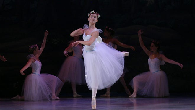 """Sara Biscardi as the Sylph in the Ballet Theatre of Dover's """"La Sylphide."""""""