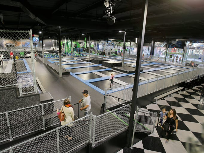 The newly opened DojoBoom Extreme Air Sports in the