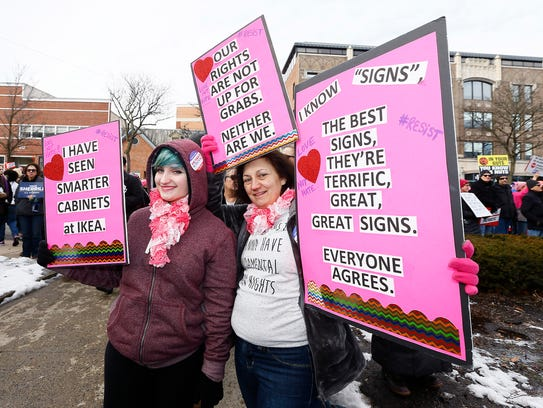 Thousands converged on Morristown for the Women's March