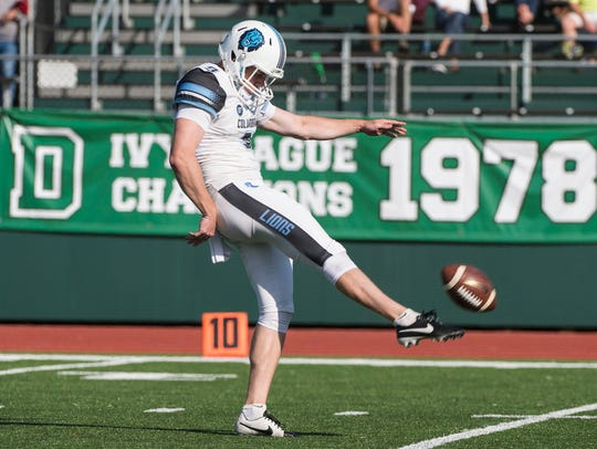 Columbia Lions wide receiver / punter Parker Thome