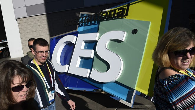 Attendees arrive for the first official day of last year's Consumer Electronics Show.
