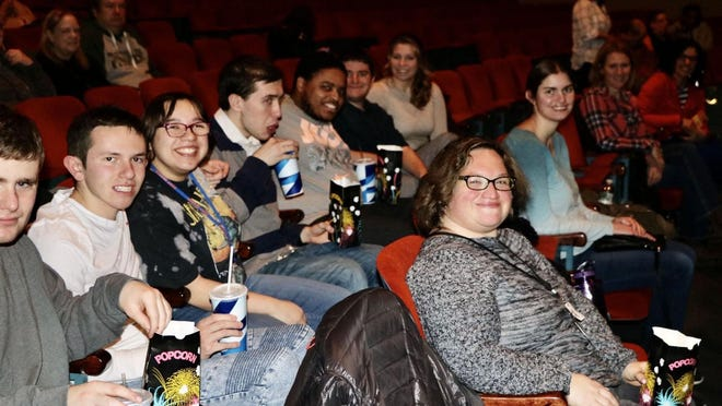 "Students from the SUNY Orange BRIDGES program attend a showing of ""The Peanut Butter Falcon"" on Tuesday, February 25th at the Paramount Theatre in Middletown. BRIDGES is an inclusive post-secondary education experience for young adults (age 21 or have exited high school)."
