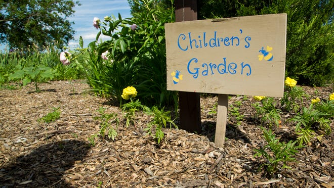 The Children's Garden at the Tippecanoe County Extension Office in Lafayette.