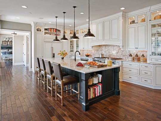 The Weatherstone kitchen, shown here, is available at Toll Brothers communities throughout New Jersey.