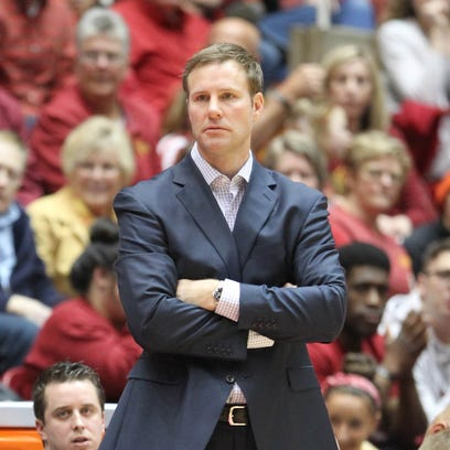 Coach Fred Hoiberg watches his team against the Oklahoma
