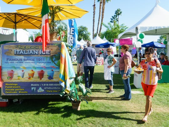 Attendees enjoy a variety of food vendors at The 6th