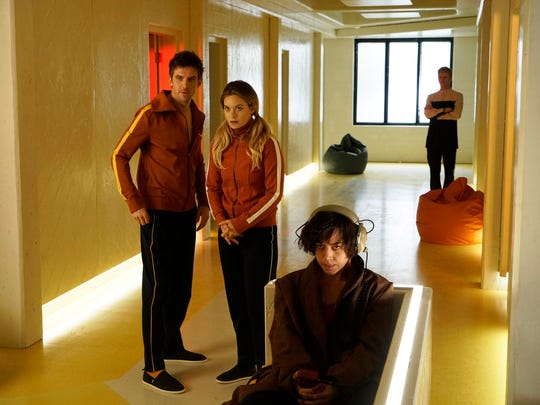 """Dan Stevens as David Haller (from left), Rachel Keller as Syd Barrett and Aubrey Plaza as Lenny """"Cornflakes"""" Busker in a scene from the """"Legion"""" premiere, """"Chapter 1,"""" airing 10 p.m. Wednesday, Feb. 8 on FX."""