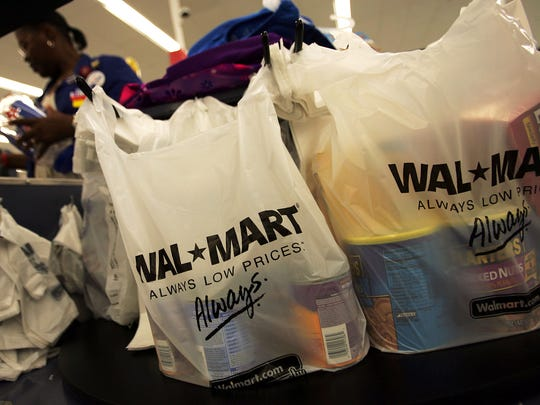 Members of the Moscow Orchestra, who performed at the 2015 jazz fest, bought enough stuff during a trip to Walmart to fill 25 shopping bags.