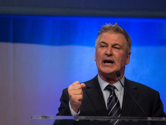 Actor Alec Baldwin, who impersonates President Donald