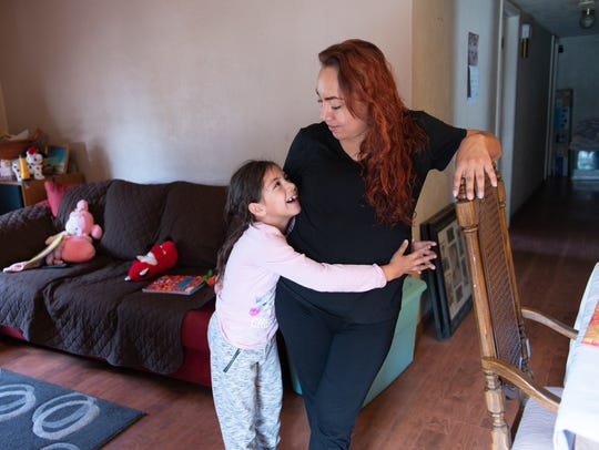 Nayeli Saenz and her 6-year-old daughter, Anabell.