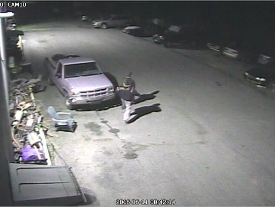 This image from a surveillance camera shows suspects
