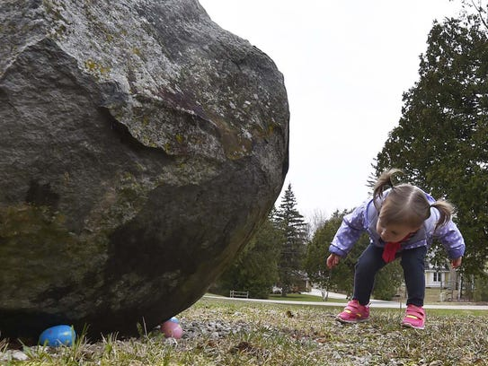 Lily Baudhuin of Germantown found some Easter eggs