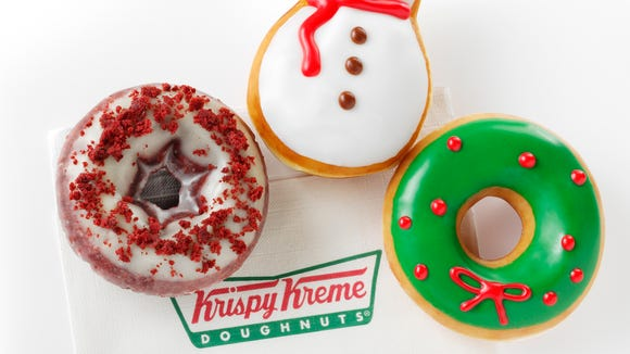 Krispy Kreme is in the holiday spirit with these three seasonal treats.