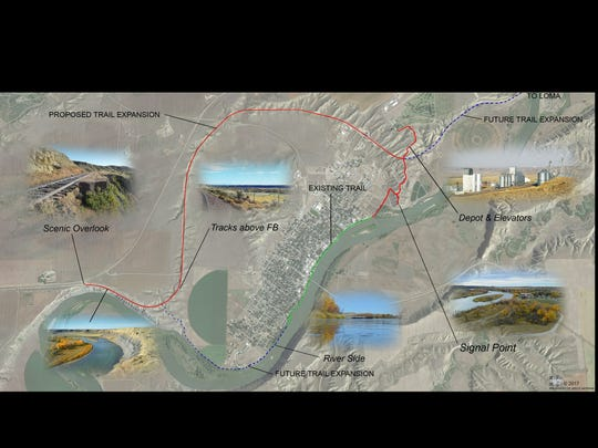 Architect-in-training Kelly Axtman designed a trails loop that's under discussion in Fort Benton.