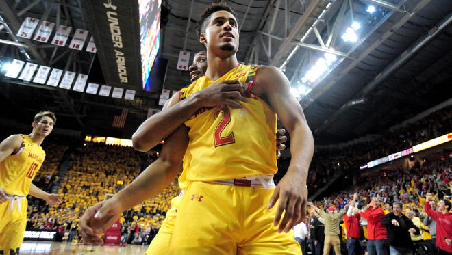 Melo Trimble leads the way for No. 3 Maryland.