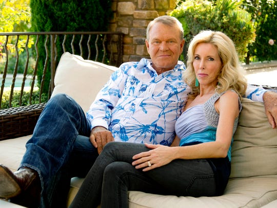 Glen Campbell credits his family, including his wife Kim, for helping him deal with his Alzheimer's.