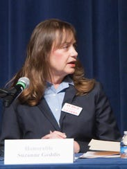 Judge L. Suzanne Geddis and her opponent Judge Carol